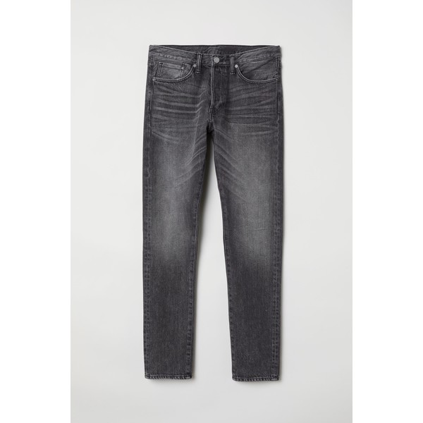 H&M Slim Straight Jeans 0611020022 Ciemnoszary