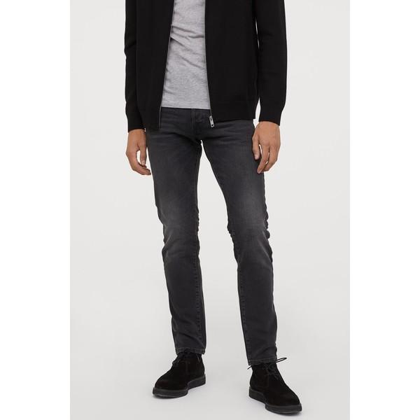 H&M Slim Straight Jeans 0611020022 Czarny