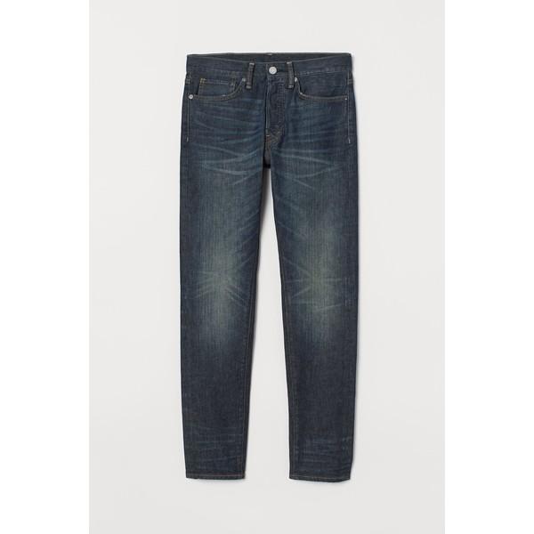 H&M Slim Straight Jeans 0611020022 Ciemnoniebieski