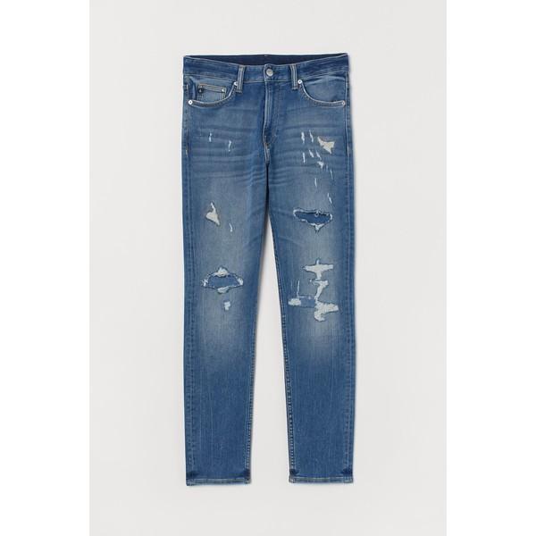H&M Slim Super Soft Jeans 0863581002 Niebieski denim/Trashed