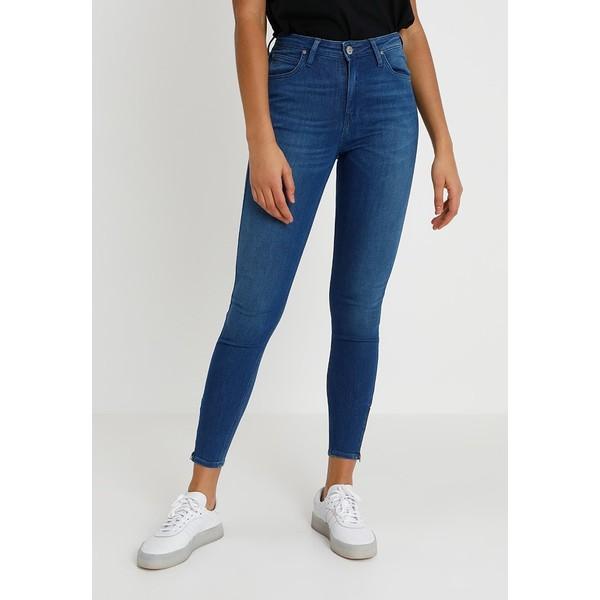 Lee SCARLETT HIGH ZIP Jeansy Skinny Fit blue denim LE421N04R