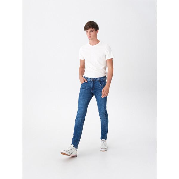 House Jeansy slim fit z bawełny organicznej XH398-55J