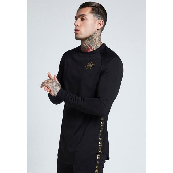 SIKSILK PERFORMANCE CREW Bluzka z długim rękawem black/gold SIF22S00H