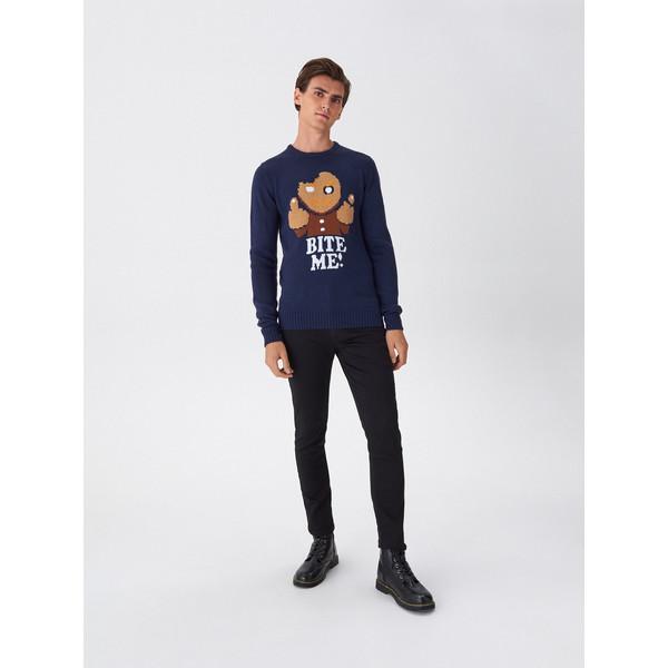 House Sweter ze świątecznym motywem WY958-59X