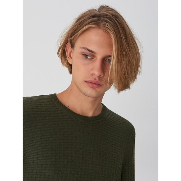 House Sweter z ozdobnym splotem WP140-79X