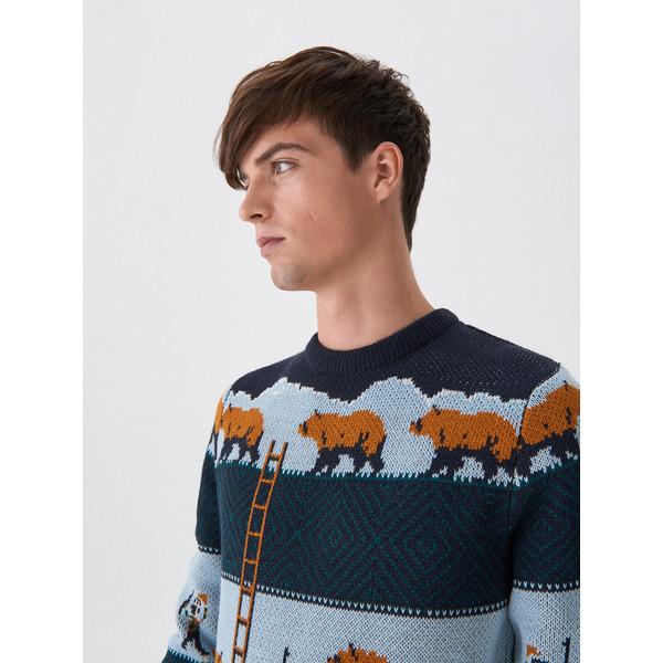 House Wzorzysty sweter WP229-MLC
