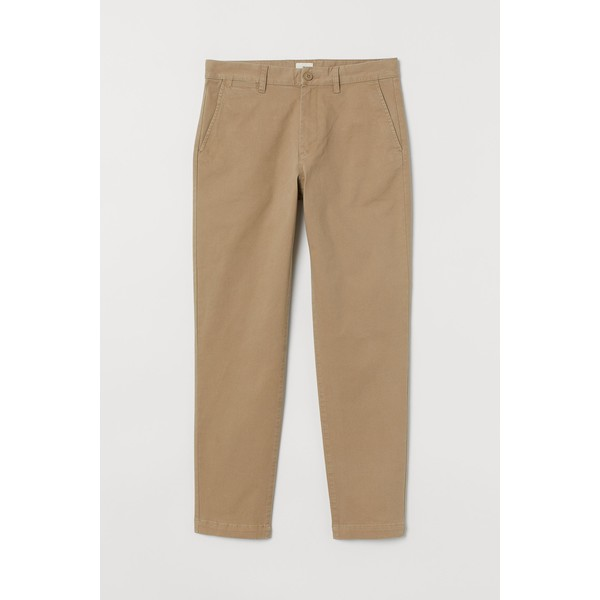 H&M Chinos Slim Fit Stretch 0815456004 Beżowy