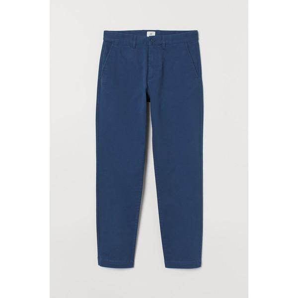 H&M Chinos Slim Fit Stretch 0815456023 Niebieski