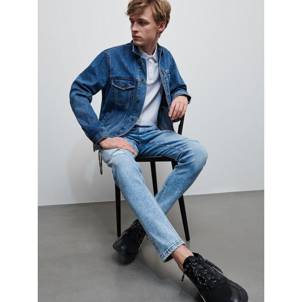Reserved Spodnie jeansowe z brelokiem XZ635-55J