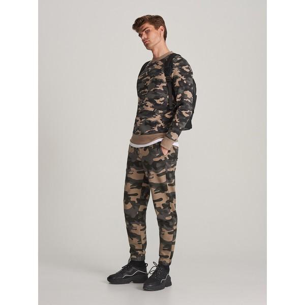 Reserved Spodnie dresowe moro XQ037-91P