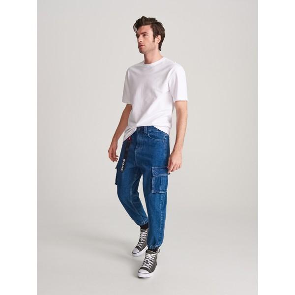 Reserved Spodnie jeansowe jogger XN080-59J
