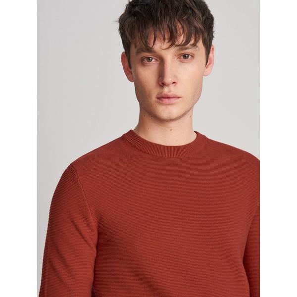 Reserved Klasyczny sweter z organicznej bawełny XK984-83X