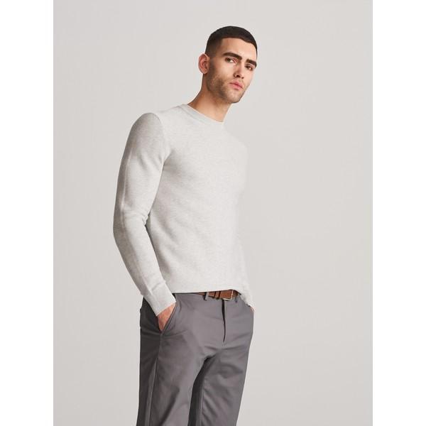 Reserved Klasyczny sweter z organicznej bawełny XK984-09M
