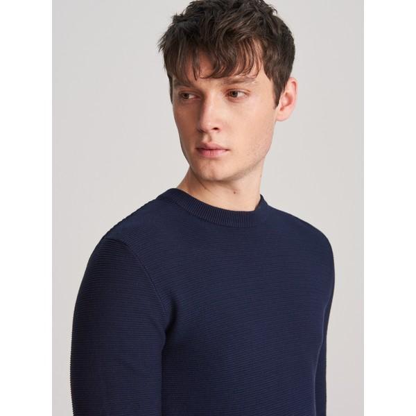 Reserved Klasyczny sweter z organicznej bawełny XK984-59X