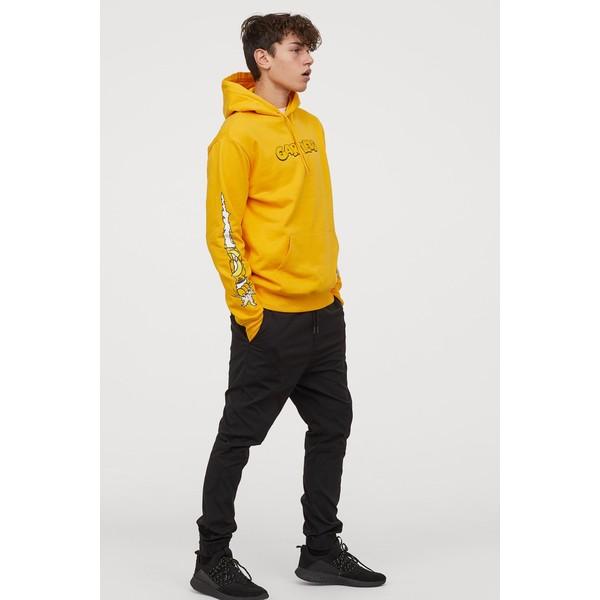 H&M Bluza z kapturem 0846933024 Żółty/Garfield