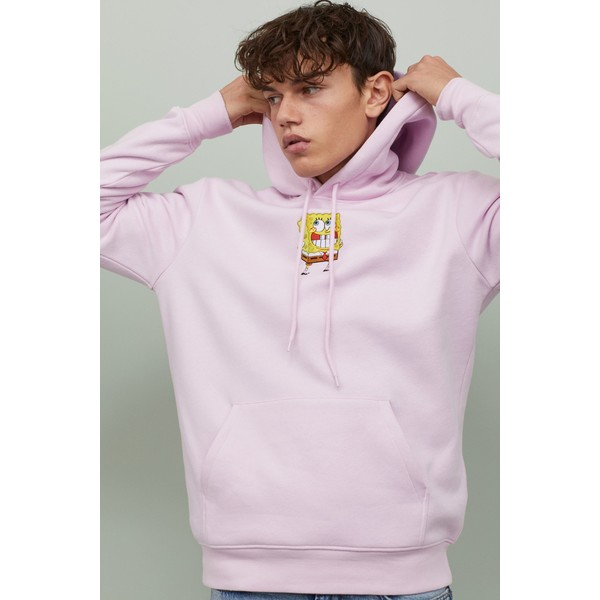 H&M Bluza z kapturem 0846933024 Jasnoróżowy/SpongeBob