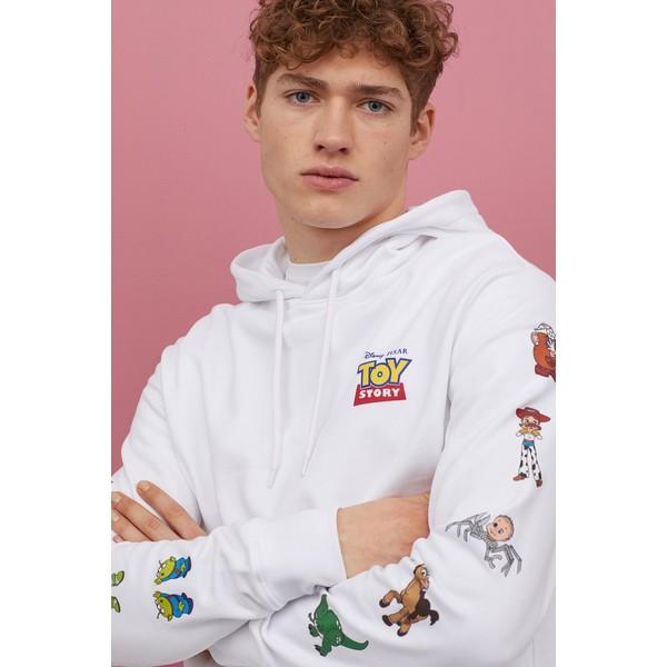 H&M Bluza z kapturem 0846933024 Biały/Toy Story