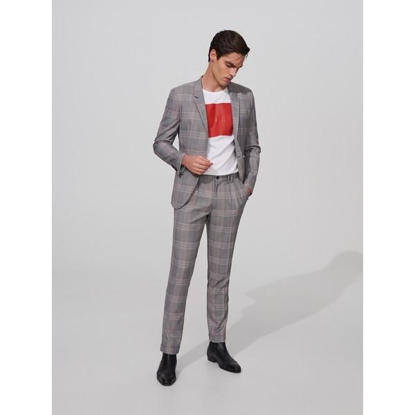 Reserved Spodnie garniturowe w kratę XE588-90P