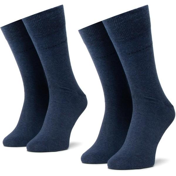 MEN BASIC SOCKS INDIGO MEL (1 PACK=2PARY) 43-46 Niebieski