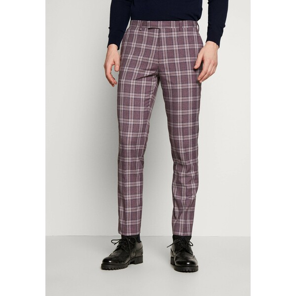 1904 DARWIN SUIT BURG Spodnie garniturowe purple melange 19022A03C