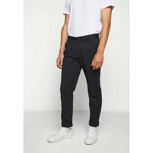 Michael Kors PAPER POP PLEAT PANT Spodnie materiałowe dark midnight 1MI22E029