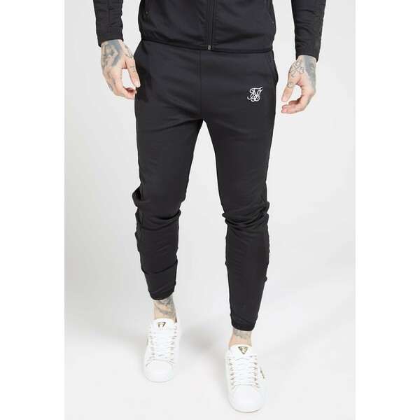 SIKSILK CREASED PANTS Spodnie treningowe black SIF22E02L
