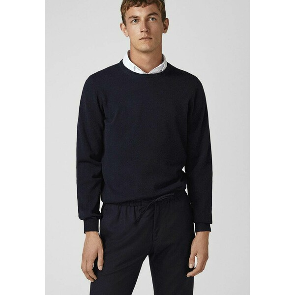 Massimo Dutti CAMPAIGN COLLECTION Sweter dark blue M3I22Q01J