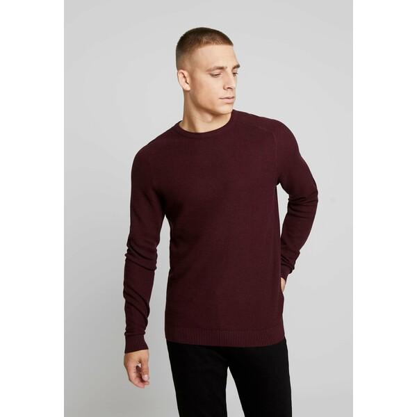 Esprit HONEYCOMB Sweter bordeaux red ES122Q0BC