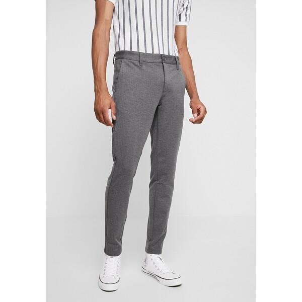 Only & Sons ONSMARK PANT STRIPE Spodnie materiałowe medium grey melange OS322E070