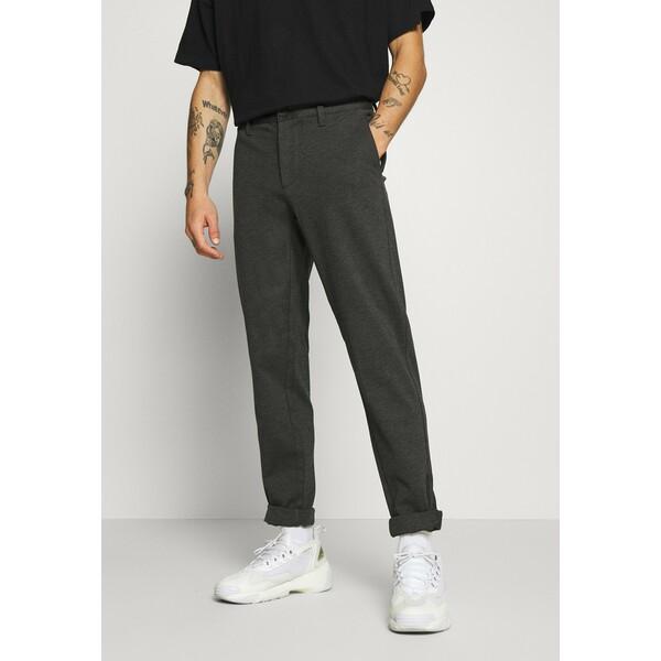 Only & Sons ONSMARK ZIP PANT Spodnie materiałowe dark grey melange OS322E09R