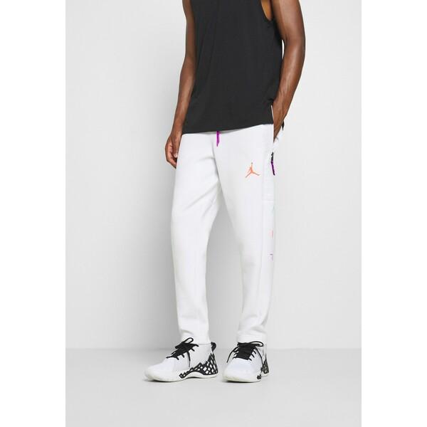 Jordan AIR PANT Spodnie treningowe white/vivid purple/infrared JOC42E02I