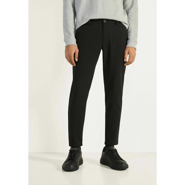 Bershka Spodnie materiałowe black BEJ22E038