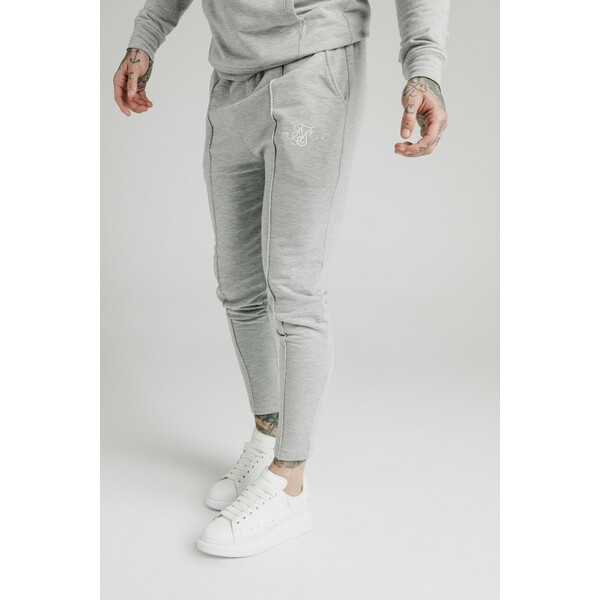 SIKSILK SMART PLEATED JOGGERS Spodnie treningowe grey marl SIF22E035