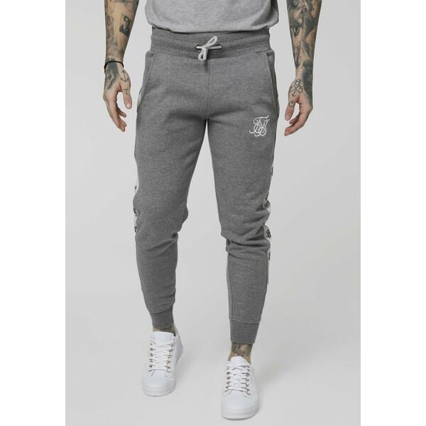 SIKSILK Spodnie treningowe grey marl/snow marl SIF22E01G