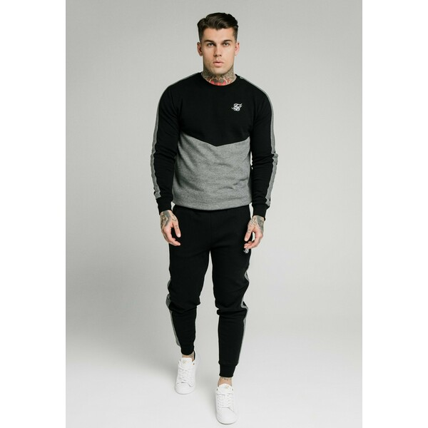 SIKSILK CUT AND SEW JOGGERS Spodnie treningowe black SIF22E03M