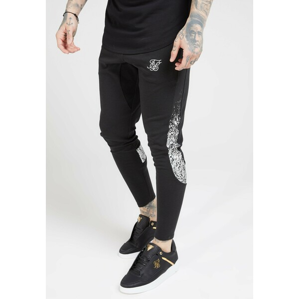 SIKSILK ATHLETE TECH FADETRACK PANTS Spodnie treningowe black/silver SIF22E02Q