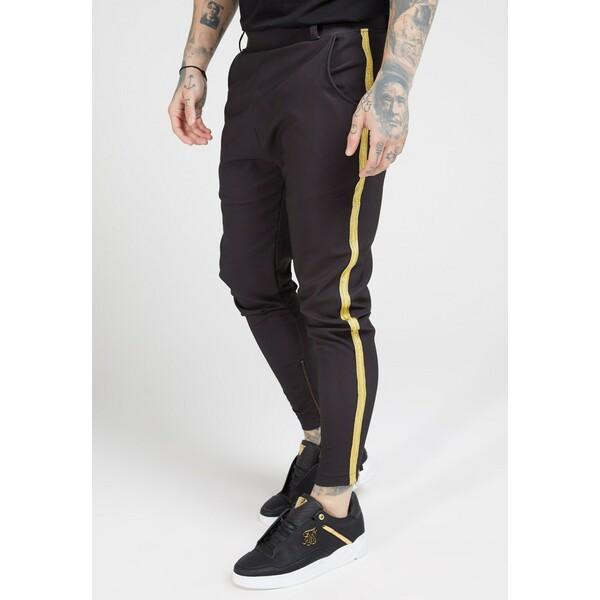 SIKSILK FITTED SMART TAPE JOGGER PANT Spodnie materiałowe black SIF22E02X