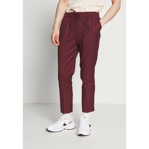 New Look PIN STRIPE PULL ON Spodnie materiałowe dark burgundy NL022E04O