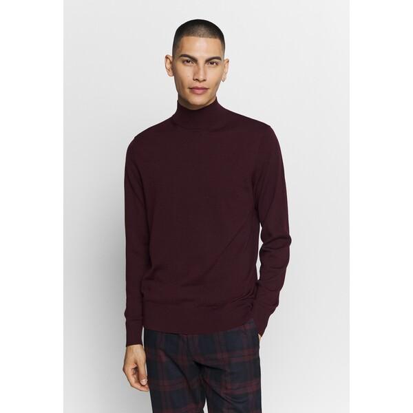 Calvin Klein SUPERIOR MOCK Sweter purple 6CA22Q01V