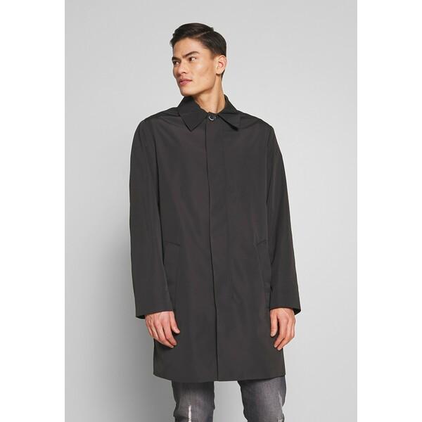 Calvin Klein Tailored COMPACT NYLON COAT Płaszcz wełniany /Płaszcz klasyczny black CAR22T008
