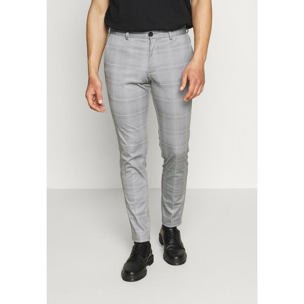 Jack & Jones JJIMARCO JJPHIL NOR CHECK Spodnie materiałowe light gray JA222E0L9