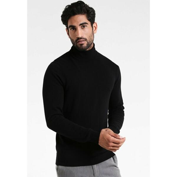 Benetton BASIC ROLL NECK Sweter black 4BE22Q02T