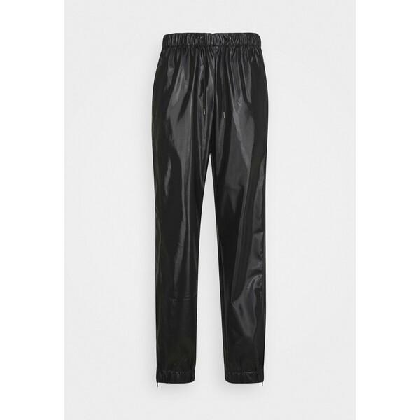 Rains UNISEX Spodnie materiałowe shiny black RI021001W