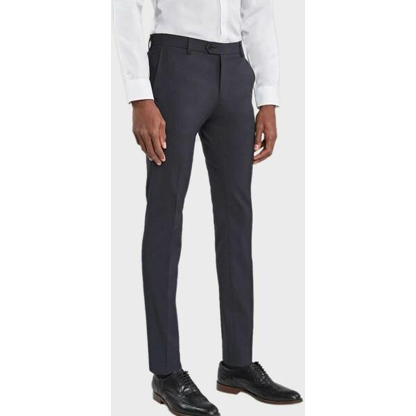 Next Spodnie garniturowe blue NX322E083