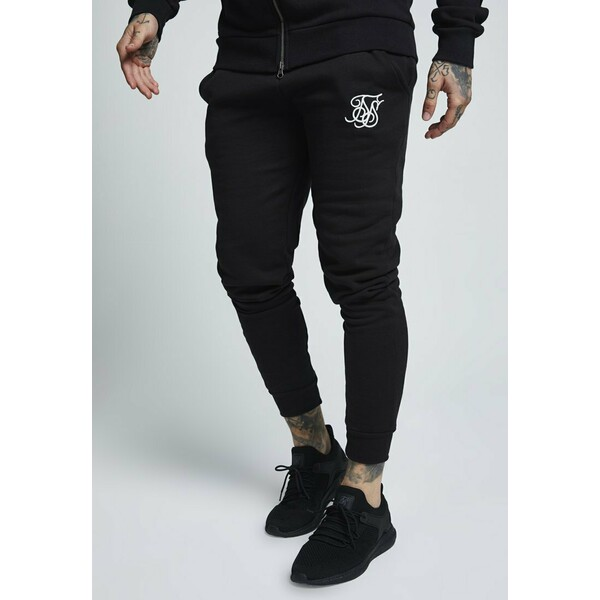 SIKSILK MUSCLE FIT Spodnie treningowe black SIF22E00G