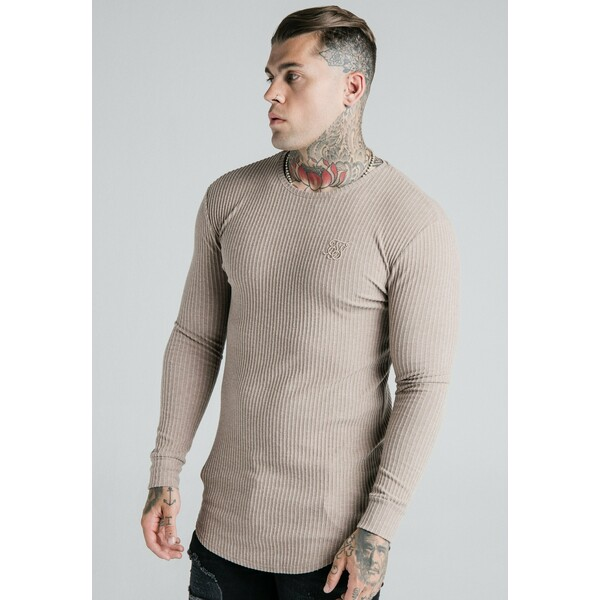 SIKSILK LONG SLEEVE BRUSHED JUMPER Sweter beige SIF22Q00G