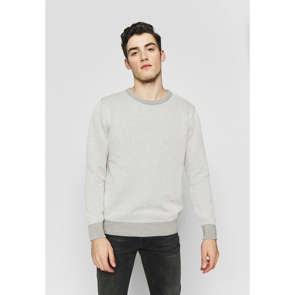 Kronstadt RICE Sweter grey mel / off white KR122Q00U