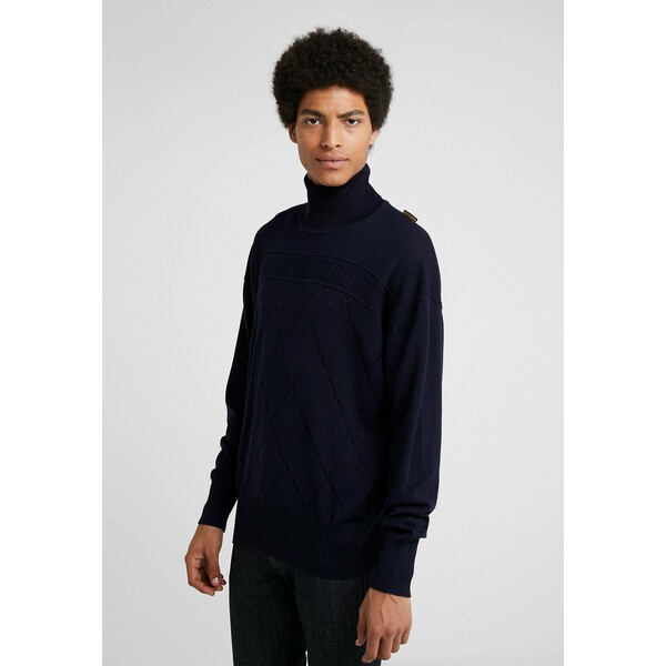 Versace Collection Sweter blue VC122Q01E