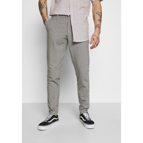 Only & Sons ONSMARK PANT STRIPE Spodnie materiałowe light grey melange OS322E070