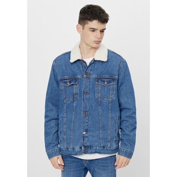 Bershka Kurtka jeansowa blue BEJ22T06I